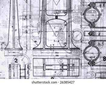 Stack old railway design blueprints printed stock photo safe to use a stack of old railway design blueprints printed on vellum paper malvernweather Choice Image