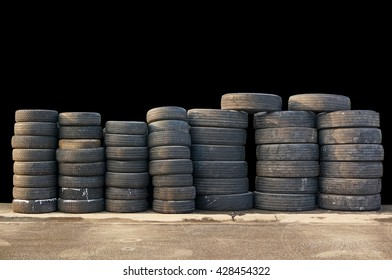 Stack of old tire