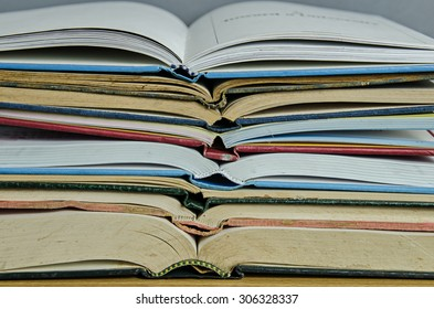 stack of open book