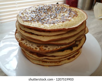 Stack of pancakes (blini)