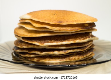 A stack of pancakes on a plate
