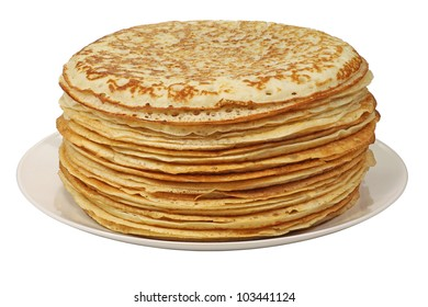A stack of pancakes - Russian traditional dish.