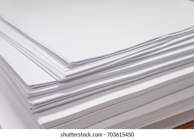 Stack of paper in the office.