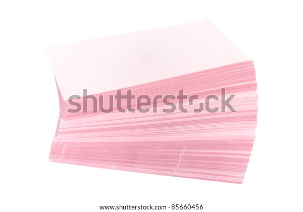 stack of paper on the white background.