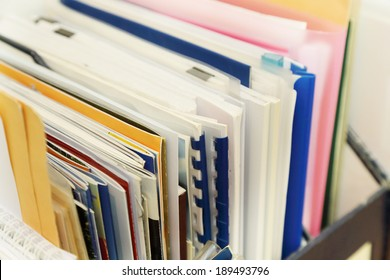 stack of paper and socuments in the office