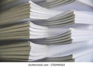 Stack of papers in office on the table