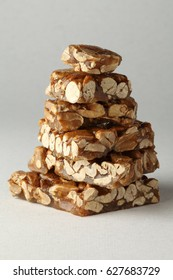 STACK OF PEANUT BRITTLE PIECES