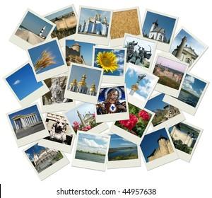 Stack of photo shots with Ukrainian landmarks