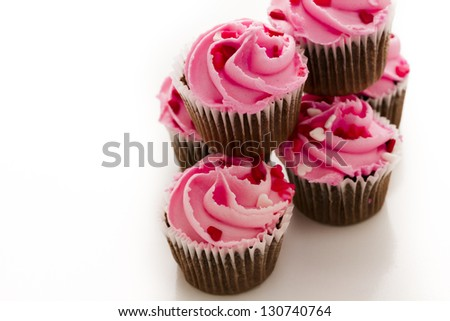 Stack Pink Cupcakes Engagement Ring On Stock Photo Edit Now