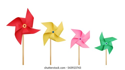 Stack pinwheels on white