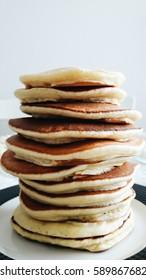 Stack of Plain Pancakes.