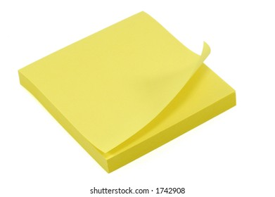 Stack of Post-It Notes. Isolated on White with Clipping Path