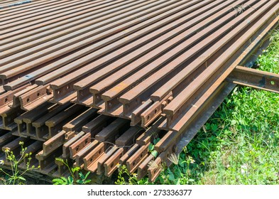 stack of railway tracks