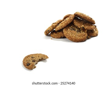 Stack of Raisin Oatmeal Cookies