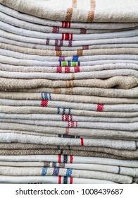 Stack of raw fabrics