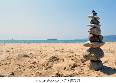 Stack of rocks by the sea