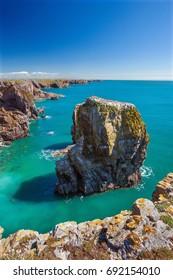 Stack Rocks, Pembrokeshire Coast, Wales, UK
