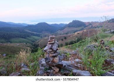 Stack Of Rocks Stones in the mountains