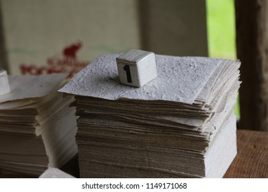 stack of rough paper