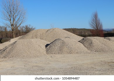 stack of sand. Pile of yellow sand. Construction sand