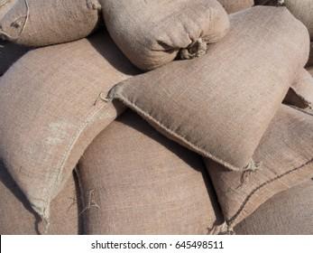 Stack of sandbags