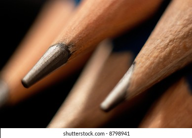 Stack of sharpened pencils