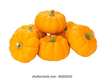 Stack of small pumpkins
