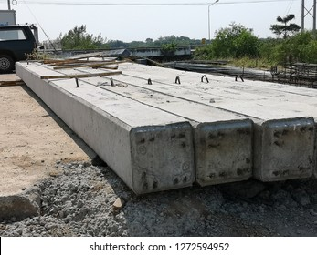stack of square reinforce concrete piles for foundation construction