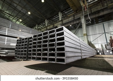 Stack of stainless steel bars