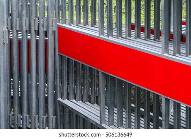 stack of steel barrier for security