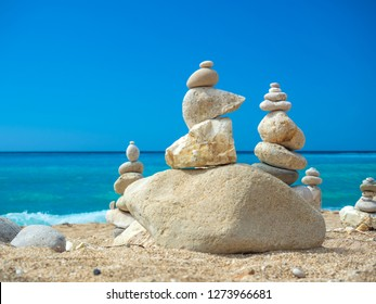 Stack of stones at the beach