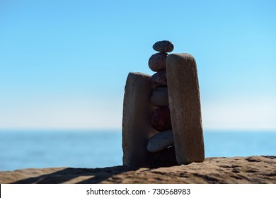 Stack of stones on the coast