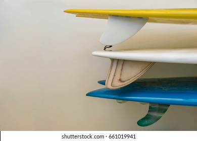 stack of  surfboard