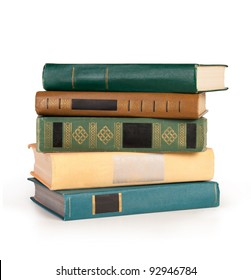 Stack tack of books isolated on the white backgroundof books isolated on the white background
