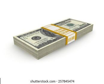 Stack of Ten Thousand Dollars