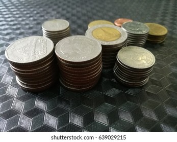 stack of Thai coins(Baht)