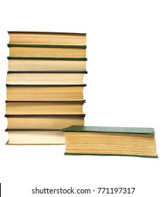 stack of thick books