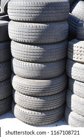 Stack of tires.