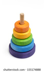 Stack Tower in different colors.
