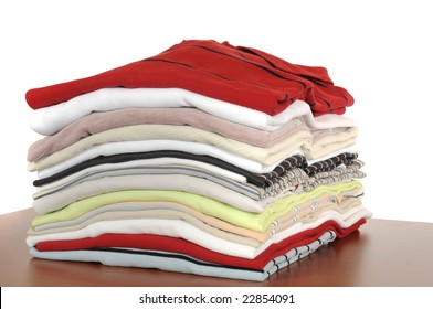 Stack of T-Shirts in different colors