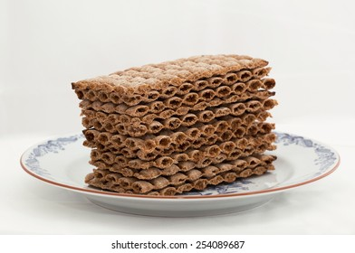 A stack typically Swedish crisp bread, the bread is very popular as a breakfast bread in Sweden.