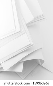 Stack white paper space for text background