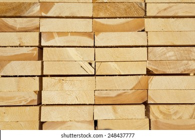 Stack of wood cut