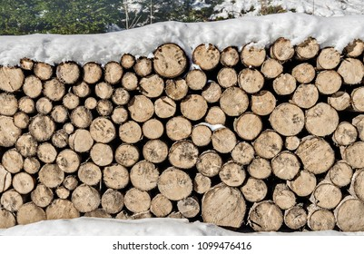 Stack of wood, firewood, background
