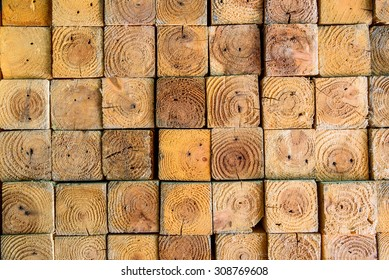 Stack of wood lumber for background, Stacked Wood Cut