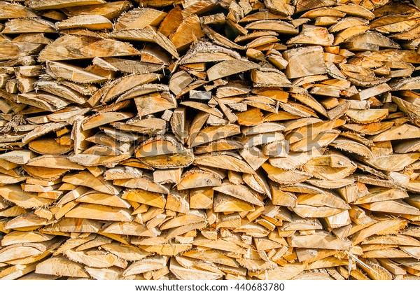 stack of wooden bars of a pine tree