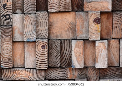 Stacked 2x4 Wood Grain Texture Background