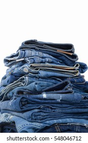 Stacked of Blue Jeans
