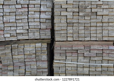 Stacked bricks at site