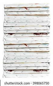 Stacked of canvas painting frames